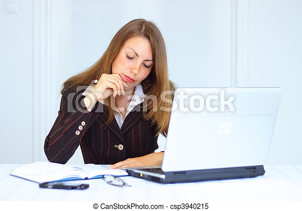 Business woman in the workplace - csp3940215