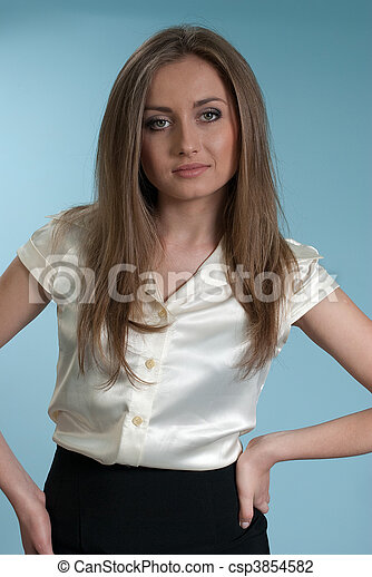 Business woman in white shirt. Gorgeous business ladies... stock ...