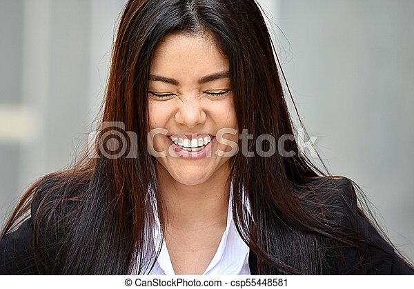Business Woman Laughing - csp55448581