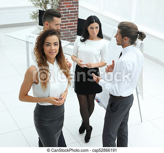 business woman on the background of colleagues - csp52866191