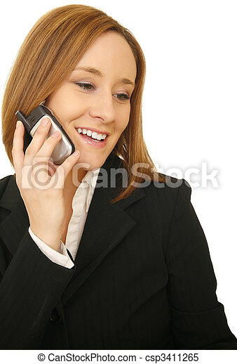 Business Woman Talking On The Phone - csp3411265