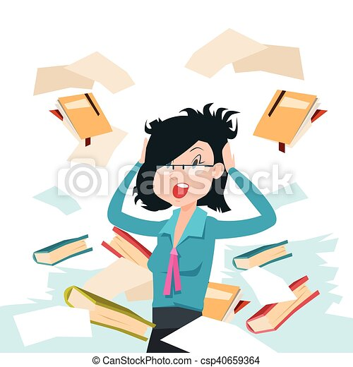 business woman throw papers hold hands on head stressed clip art rh canstockphoto com businesswoman clipart businesswoman clipart