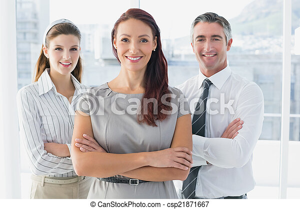 Business woman with colleagues - csp21871667