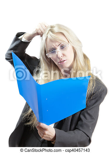 business woman with folder - csp40457143