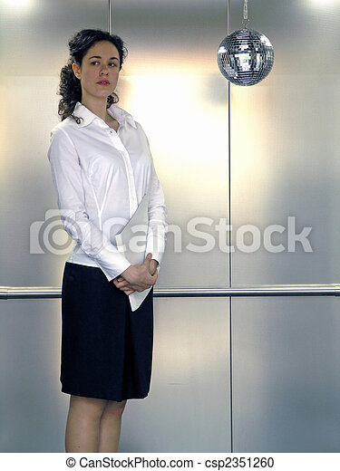 Business Woman With Folede - csp2351260