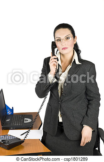 Business woman with phone - csp1801289