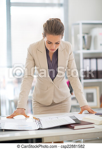 Business woman working in office - csp22881582