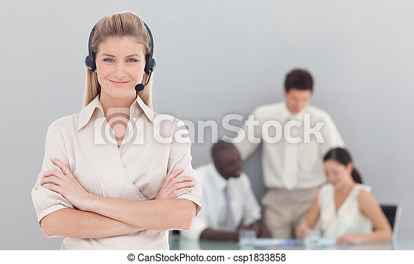 Business woman working in the office  - csp1833858