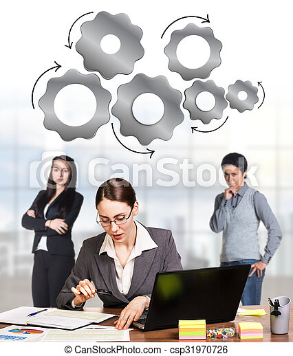 Business women in the office - csp31970726