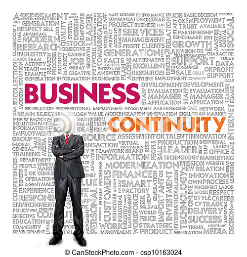 Business word cloud for business concept, Business continuity - csp10163024