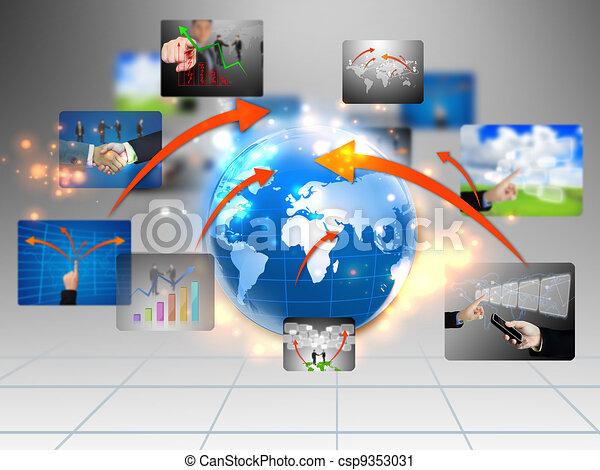 business world  - csp9353031
