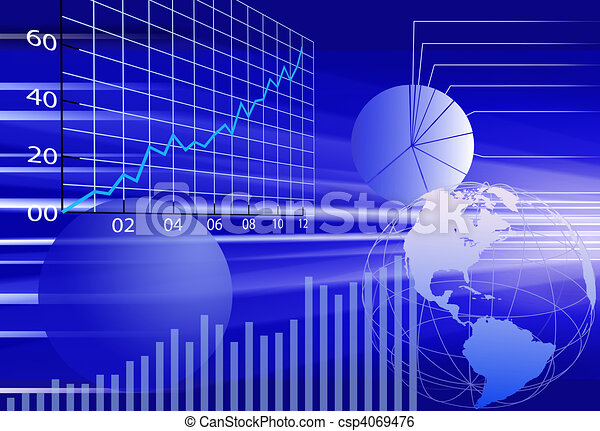 Business world financial data abstract background - csp4069476