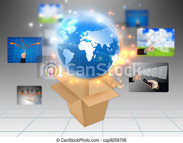 business world  - csp9259706