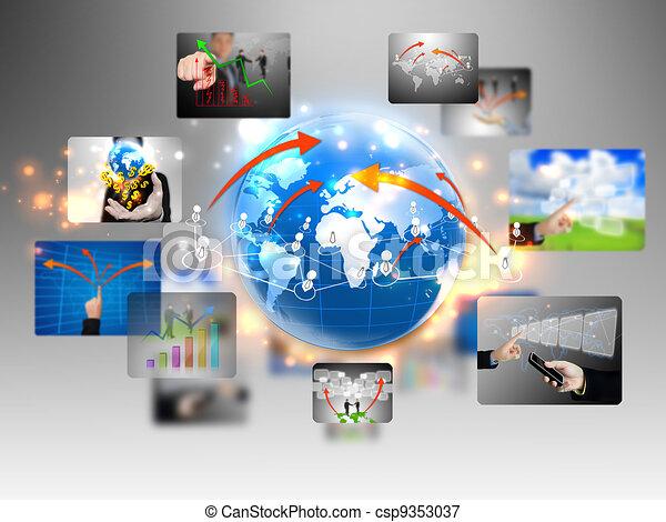 business world  - csp9353037