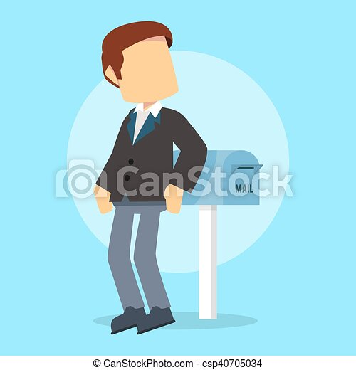 businessman αναβάλλω , αλληλογραφία  - csp40705034