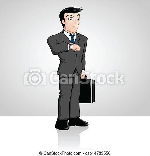 businessman αναβάλλω  - csp14783556