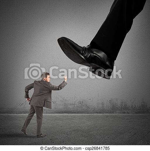 Businessman against boss - csp26841785