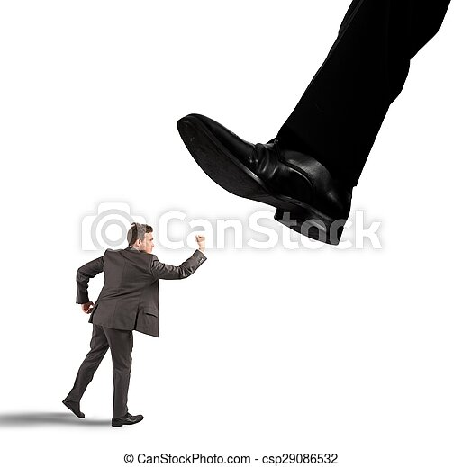 Businessman against boss - csp29086532