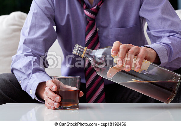 Businessman alcoholic - csp18192456