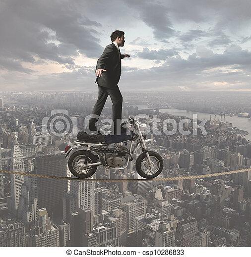Businessman and acrobatic challenges - csp10286833