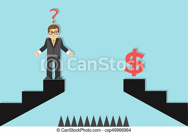businessman and an obstacle to success - csp49966964
