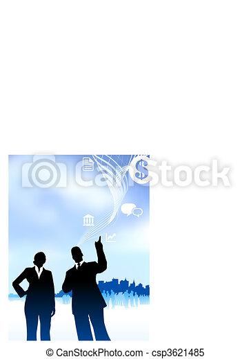 businessman and businesswoman - csp3621485