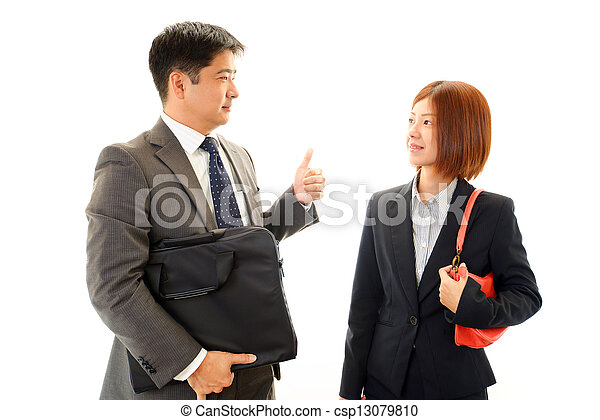Businessman and businesswoman - csp13079810