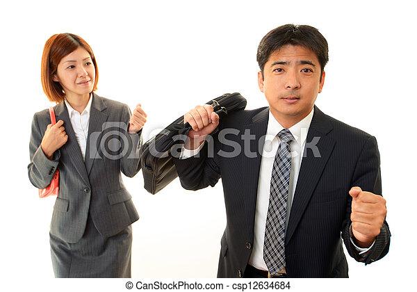 Businessman and Businesswoman - csp12634684