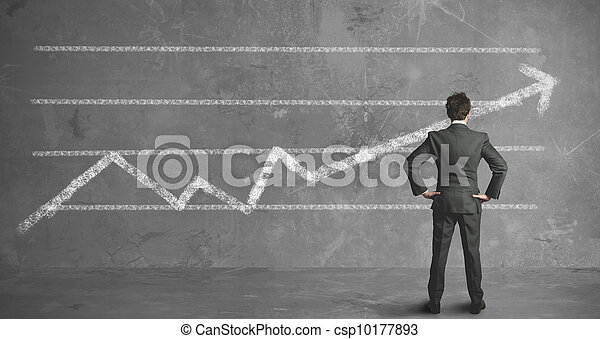Businessman and company trend - csp10177893