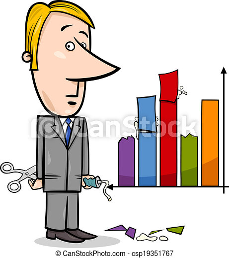 businessman and graph data cartoon concept cartoon clip art rh canstockphoto com tree clipart black and white data clip art images