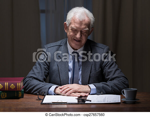 Businessman and paperwork - csp27657560
