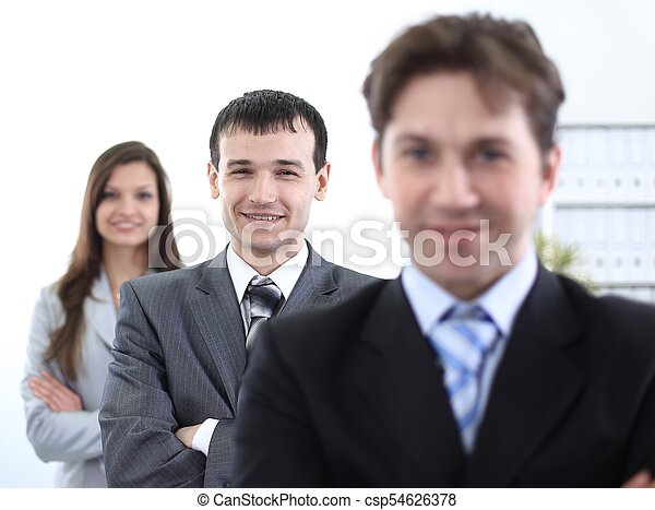 businessman and successful business team - csp54626378