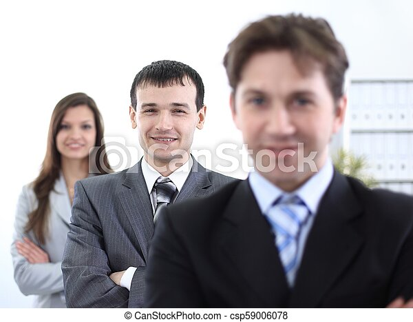 businessman and successful business team - csp59006078
