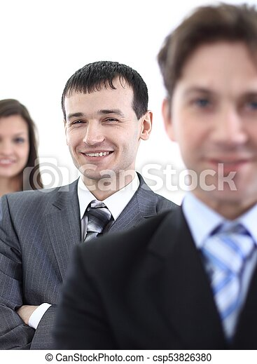 businessman and successful business team - csp53826380