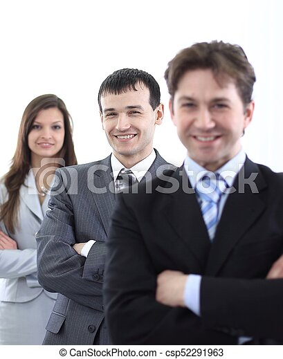 businessman and successful business team - csp52291963