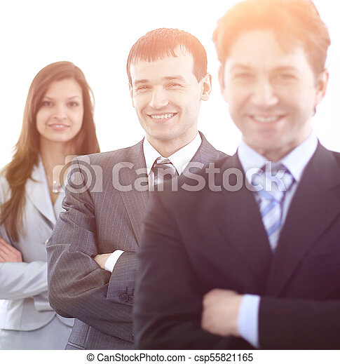 businessman and successful business team - csp55821165
