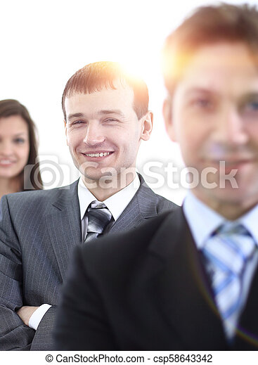 businessman and successful business team - csp58643342