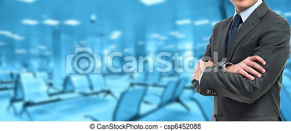 Businessman banner - csp6452088