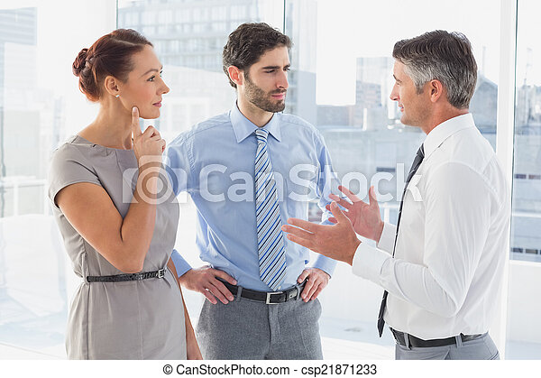 Businessman chatting with co-worker - csp21871233