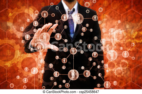 Businessman Choosing the right person - csp25458647