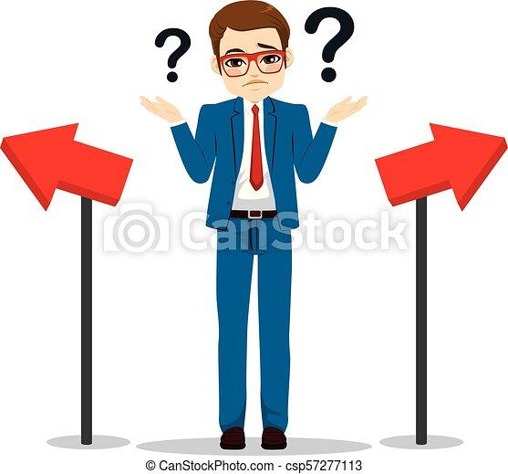 Businessman Choosing Way - csp57277113