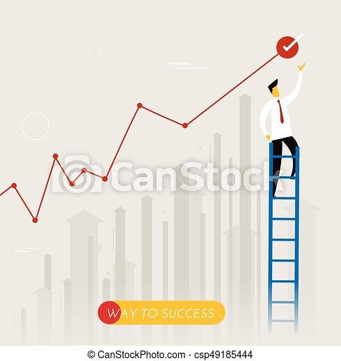 Businessman climbs the stairs - csp49185444
