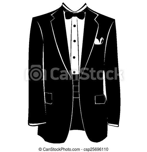 Vector Clip Art of Businessman Coat csp25696110 - Search ...
