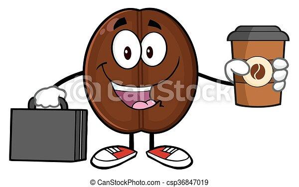 Businessman Coffee Bean  - csp36847019