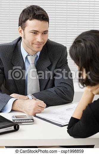 Businessman consulting - csp1998859