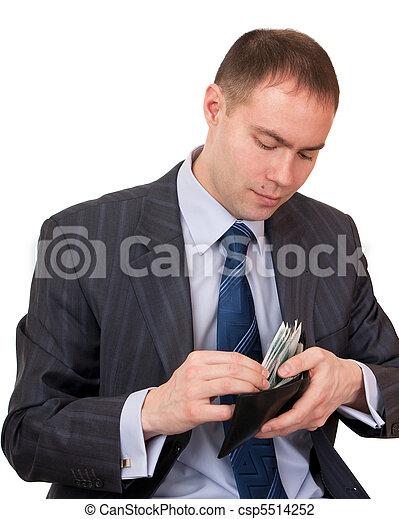 Businessman count cash. - csp5514252