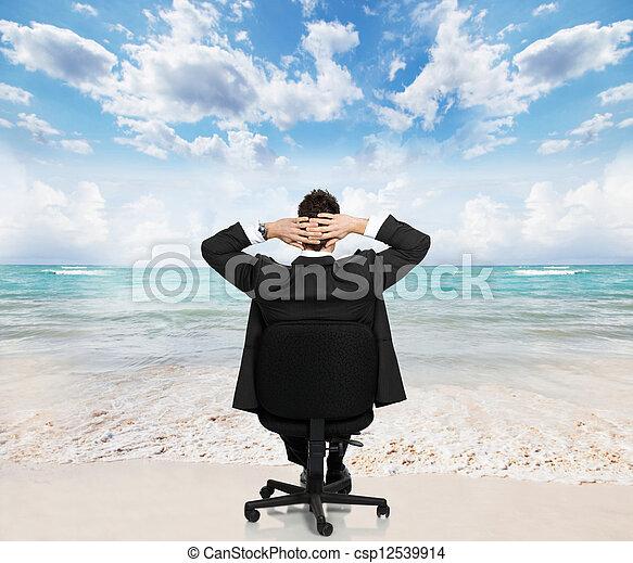 businessman., délassant - csp12539914