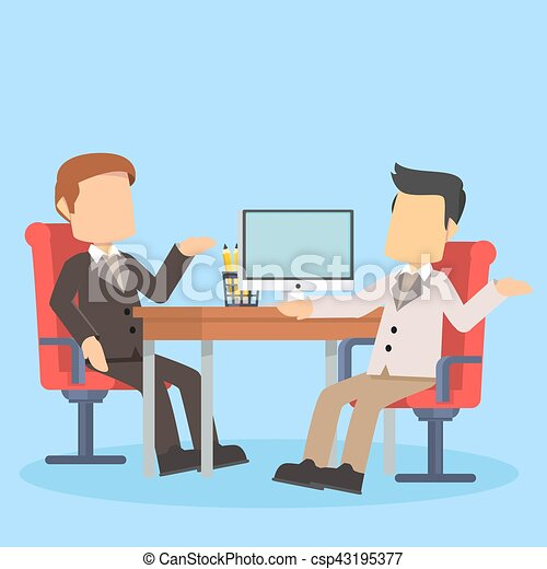 businessman discussing at the office desk - csp43195377