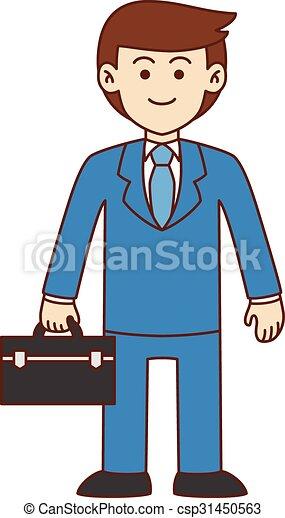 Businessman doodle - csp31450563