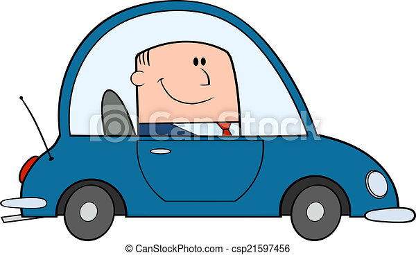businessman driving car to work cartoon character clipart vector rh canstockphoto com driving clip art free driving school clipart